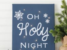 DIY twinkle light canvas with a modern feel (via www.thecasualcraftlete.com)