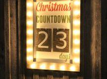 DIY countdown marquee sign (via thediydreamer.com)