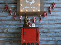 DIY Christmas marquee sign with sheer ornaments (via brepurposed.porch.com)
