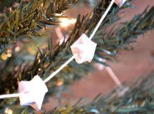DIY origami star garland (via hellolittlehome.com)
