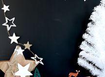 DIY star garland of white foam (via sayyes.com)