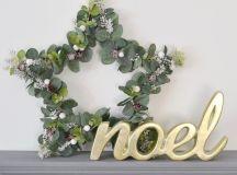 DIY wire eucalyptus star wreath (via thethingsshemakes.blogspot.ru)