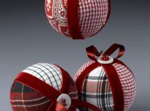 DIY plaid Christmas ornaments of old shirts (via craftsncoffee.com)