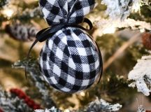 DIY plaid flannel Christmas ornaments (via thefrugalhomemaker.com)