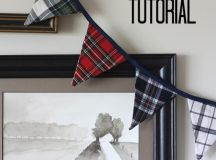 DIY tartan plaid bunting (via myblessedlife.net)