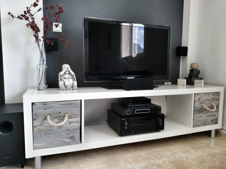 16 Diy Ikea Tv Stands And Units With Hacks Shelterness