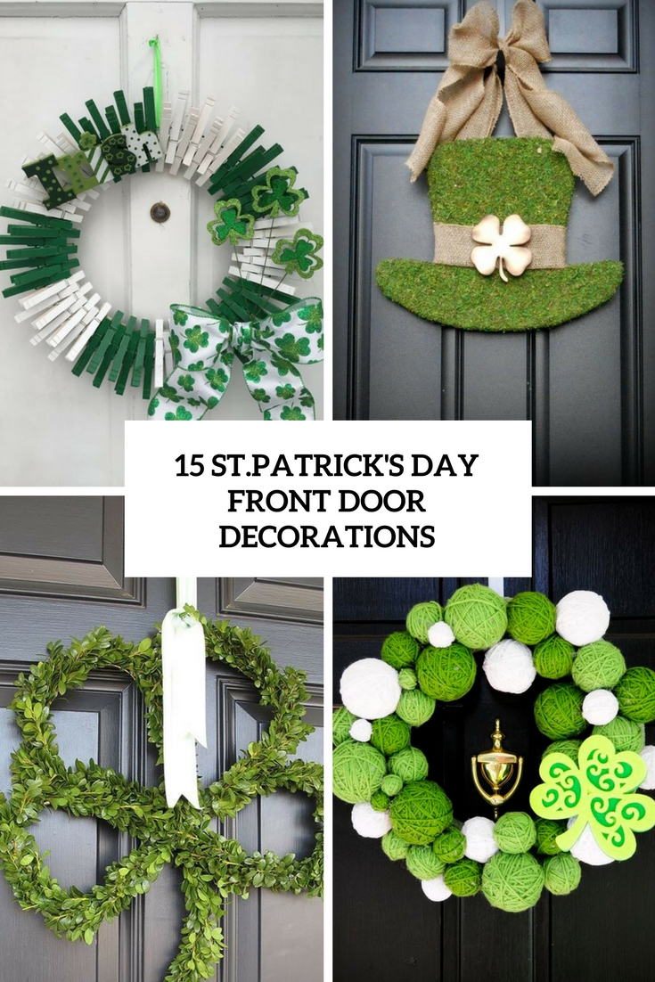 15 St.Patricks Day Front Door Decorations