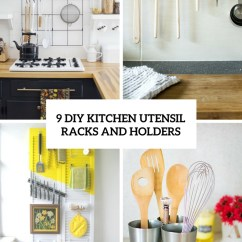 Kitchen Utensil Rack Small Tv 9 Diy Racks And Holders Shelterness Cover