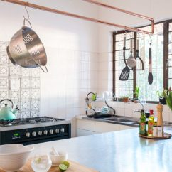 Copper Kitchen Utensil Holder Cabinets Without Doors 9 Diy Racks And Holders Shelterness Rack Via Www Apartmenttherapy Com