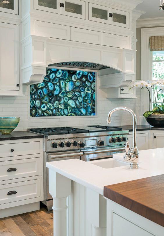 kitchen backsplash lighting rv sink 15 edgy agate and geode decor ideas - shelterness