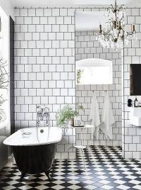 15 Non-Boring Black And White Bathroom Decor Ideas ...