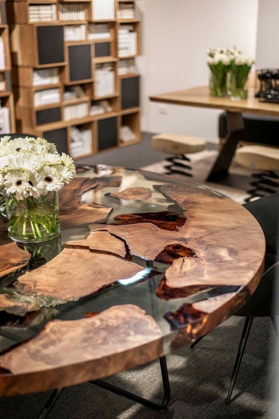 15 Resin Tables To Add A Natural Feel To Your Home