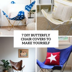 Butterfly Chair Covers Diy Eames Dining Replica 7 To Make Yourself - Shelterness