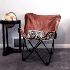 Chair Covers Leather Outdoor Chairs On Love Island 7 Diy Butterfly To Make Yourself Shelterness Cover With Zebra Print Backing Fabric Via Www Myanythingandeverything
