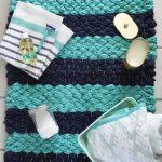 8 Diy Bathroom Mats Of Fabric And Yarn Shelterness