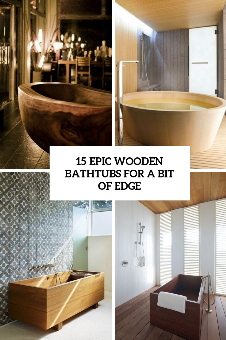 Wooden Bathtub Cover