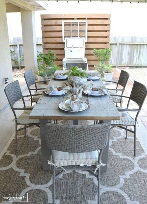 13 durable diy outdoor dining tables