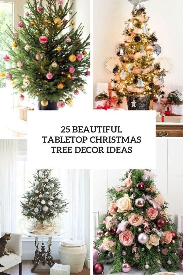 25 beautiful tabletop christmas tree decor ideas cover