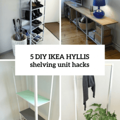 Metal Kitchen Shelves Ikea Island And Carts How To Hack Hyllis Shelving Unit: 5 Diy Ideas ...