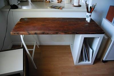 5 DIY Reclaimed Wood Desks For Your Home Office  Shelterness