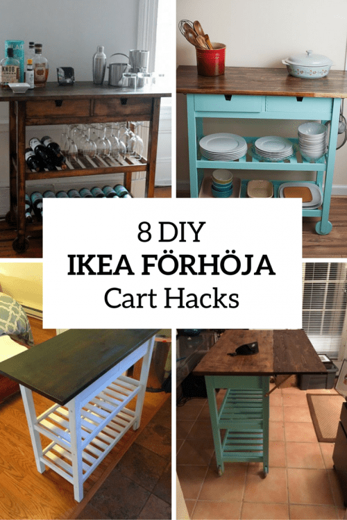 8 Quick DIY IKEA FRHJA Kitchen Cart Hacks  Shelterness