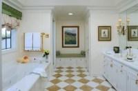 Checkered Floor Bathroom - Bathroom Design Ideas