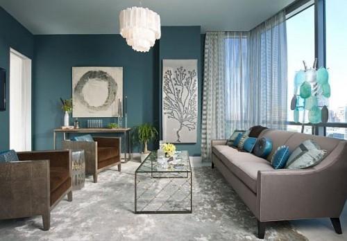 Turquoise Living Room Ideas