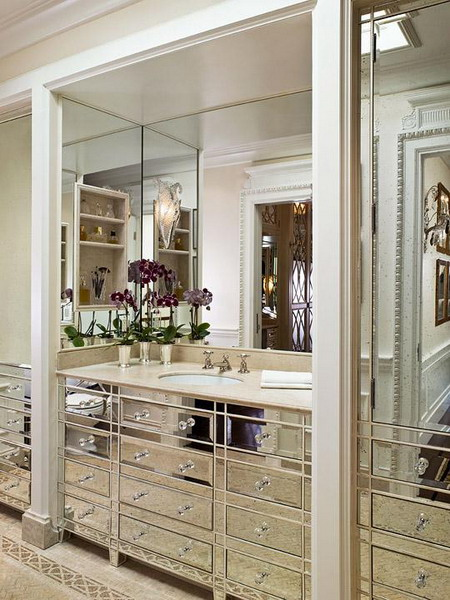 Bathroom Vanities With Tops Choosing The Right Countertop Modish Made Of Natural Stone Material Combine Large Mirror