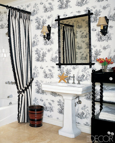 21 Unusual Bathroom Designs With Wallpapers On Walls