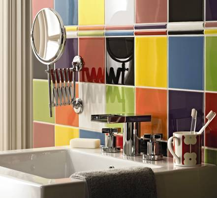 Decorating Bathroom Walls With Colorful Tiles  Shelterness