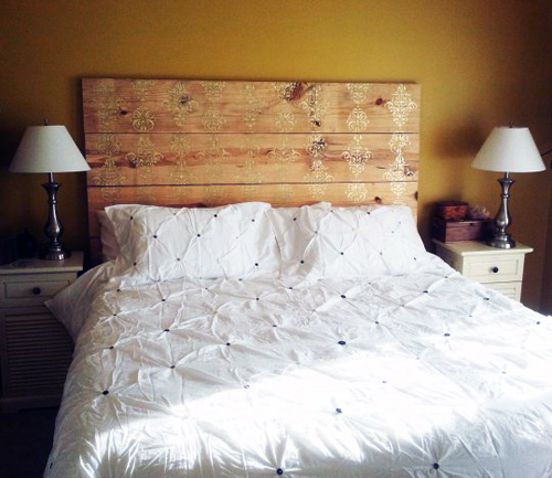 12 cool diy wooden headboards - shelterness