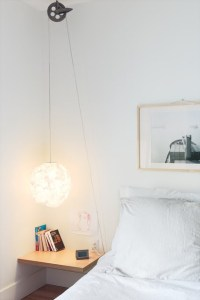56 Cool Hanging Bedside Lamps - Shelterness