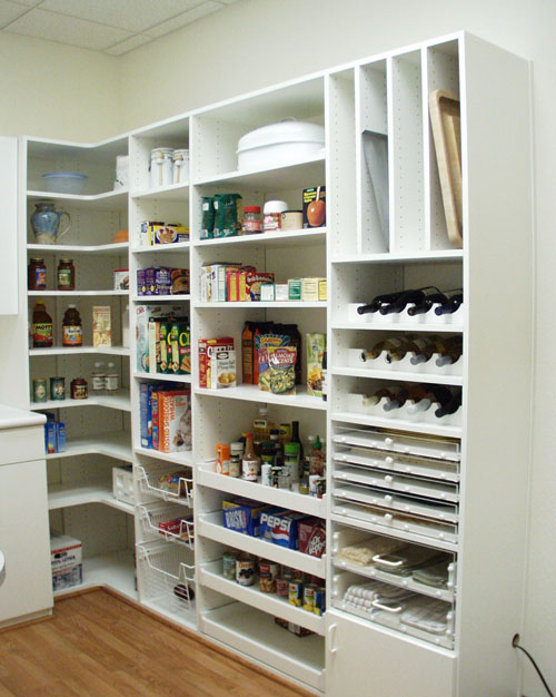 kitchen pantry ideas benches for tables 47 cool design shelterness diy solution with thoughtful shelving system
