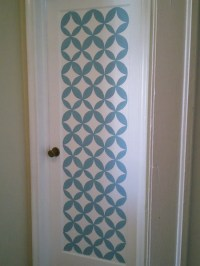 13 Creative Ideas To Paint Doors Using Stencils - Shelterness