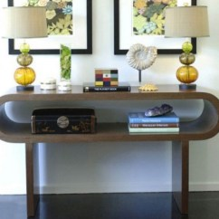 Decorating A Sofa Console Table Maroon Living Room 47 Decor Ideas - Shelterness