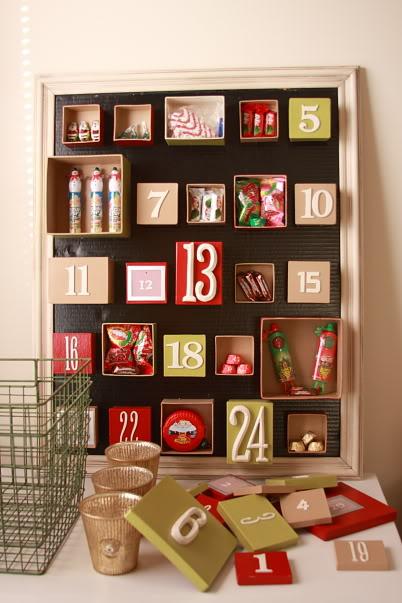 Diy Advent Calendar Made Of Boxes