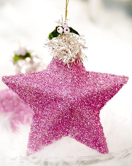 10 DIY Glitter Christmas Tree Ornaments Shelterness