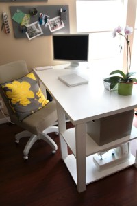 DIY Home Office Desk From An Old Door - Shelterness