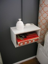 DIY Floating Night Stands For Small Bedrooms - Shelterness