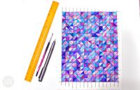 DIY Geometric Watercolor Wall Art - Shelterness