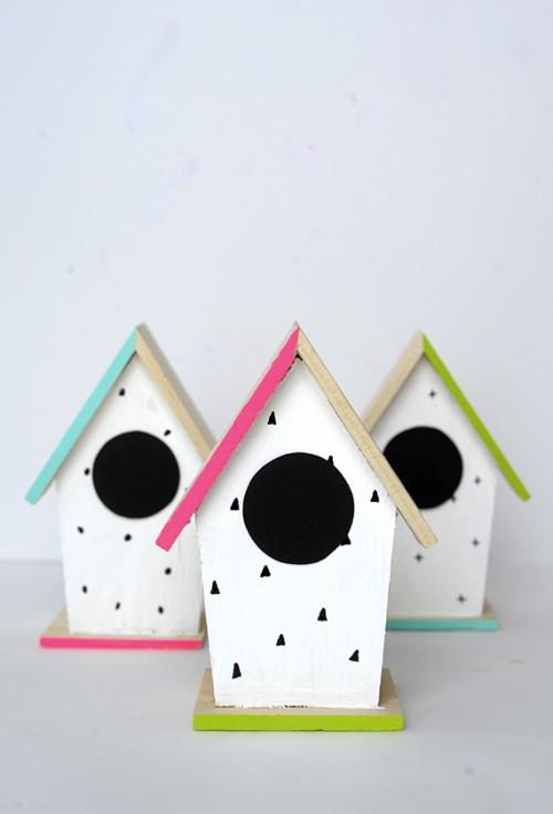 Buy Doormat Diy Hand-painted Modern Bird Houses - Shelterness
