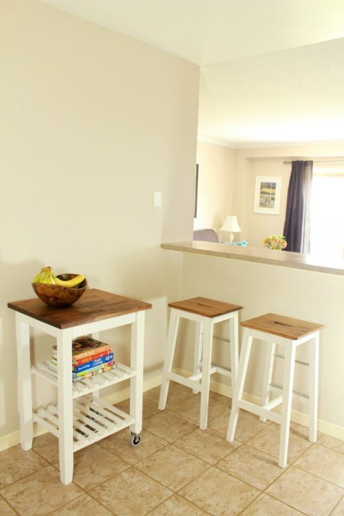 DIY IKEA Bosse Stools And BEKVM Kitchen Cart Hack
