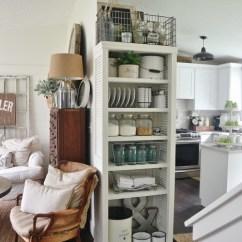 Kitchen Bookshelf Showrooms Nj Diy With Shutter Doors Shelterness