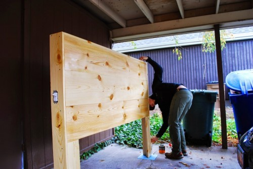DIY Light Up Good Night Headboard Shelterness