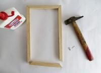 DIY Minimal Wooden Frame Pendant Lamp - Shelterness