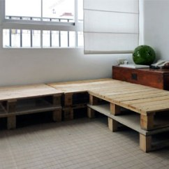 Diy Sofa From Pallets Michigan 3 Seater With Built In Storage Made Of 6 Shelterness Pallet