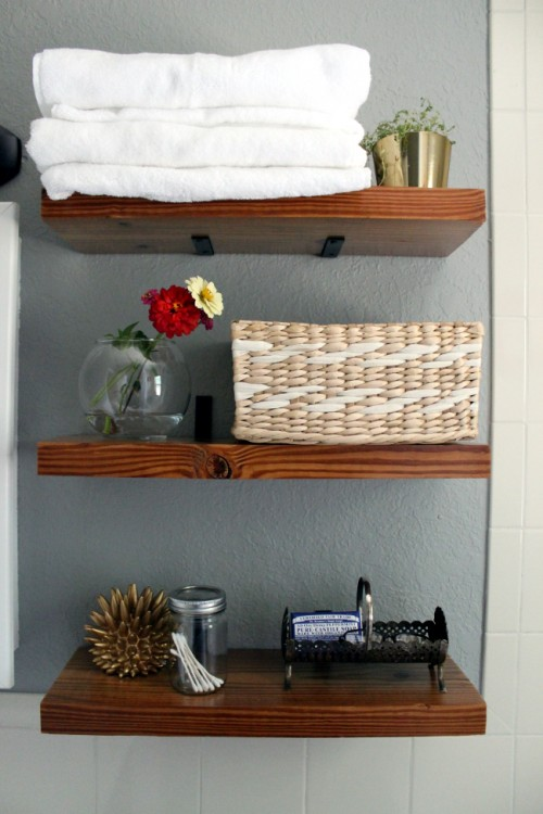 17 diy space-saving bathroom shelves and storage ideas - shelterness