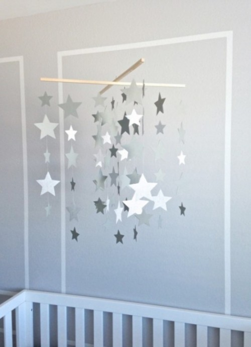 13 DIY Star Sun And CloudInspired Baby Mobiles  Shelterness