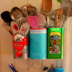 Kitchen Utensil Caddy Rohl Sinks 10 Ideas To Recycle Tin Cans As Handy Organizers - Shelterness