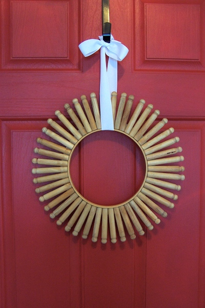 DIY Vintage Clothespin Wreath Shelterness